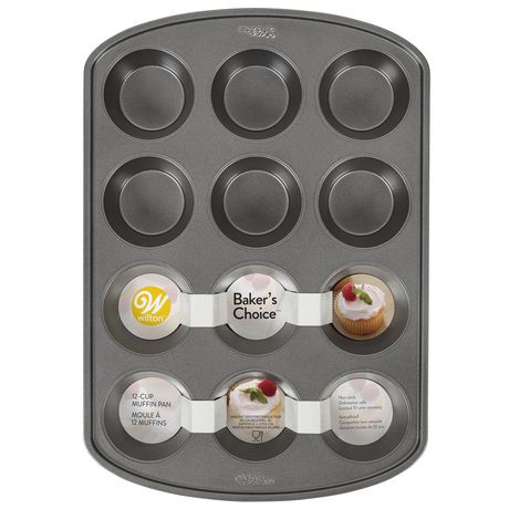 Wilton Baker's Choice Non-Stick Bakeware Standard 12-Cup Muffin Pan - image 1 of 5