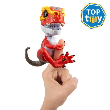 Untamed T-Rex by Fingerlings – Ripsaw (red) - Interactive Collectible Dinosaur - by WowWee - image 1 of 4