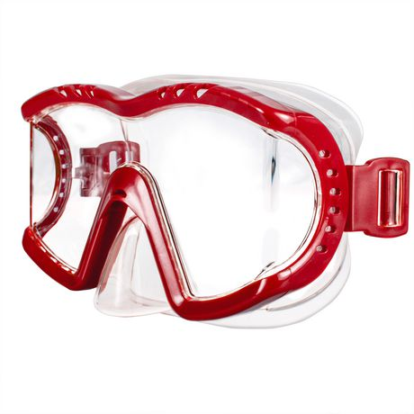 Dolfino Adult Optium Triview Red Swim Mask - image 1 of 4