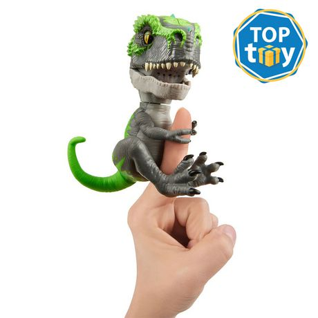 Untamed T-Rex by Fingerlings – Tracker (Black/Green) - Interactive Collectible Dinosaur - by WowWee - image 1 of 5
