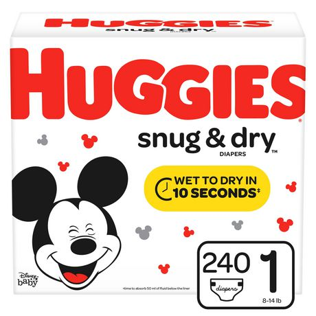 Couches HUGGIES Snug & Dry, Emballage Econo - image 1 de 7
