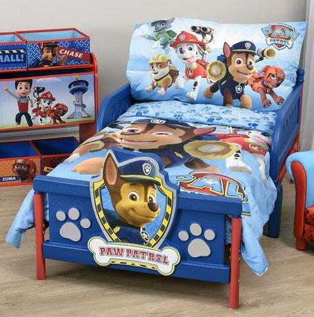 ens de literie la pat 39 patrouille pour tout petits. Black Bedroom Furniture Sets. Home Design Ideas