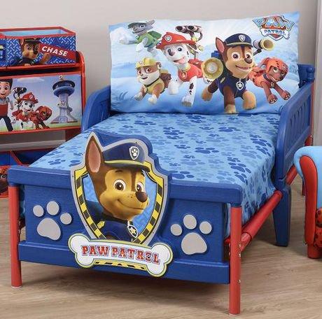 PAW Patrol Toddler Bed Sheet and Pillowcase Set   Walmart ...
