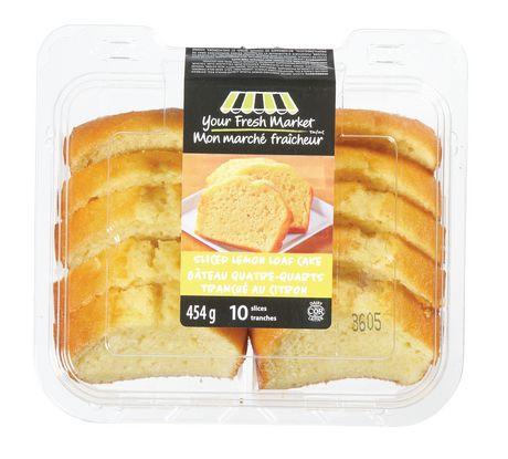 Your Fresh Market Sliced Lemon Loaf Cake Walmart Canada