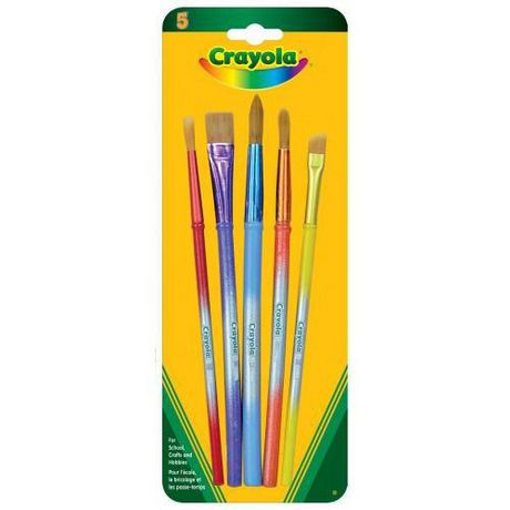 5 paint brushes assorted heads walmart canada for Walmart arts and crafts paint