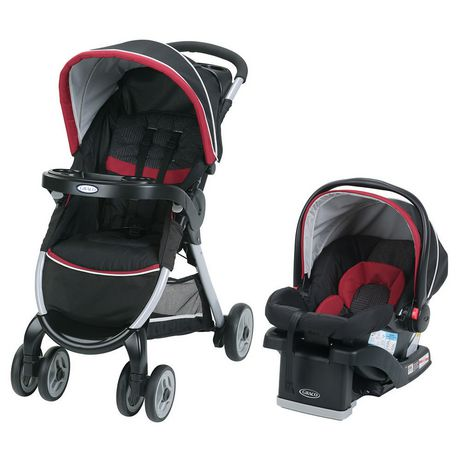 654128c6d Graco FastAction Fold Click Connect Weave Travel System - image 1 of 2 ...