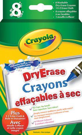 8 washable dry erase crayons walmart canada