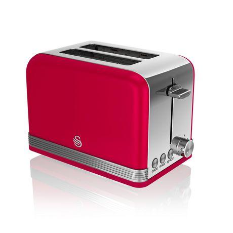 Swan Retro 2 Slice Toaster ST19010RN - image 1 of 3