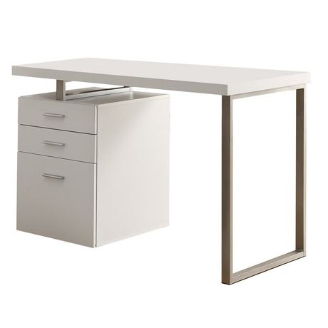 Monarch white hollow core 48 l desk - Storage staples corner ...