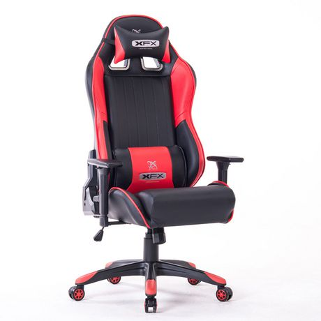 Xfx Gtr400 Faux Leather Gaming Chair Red Walmart Canada