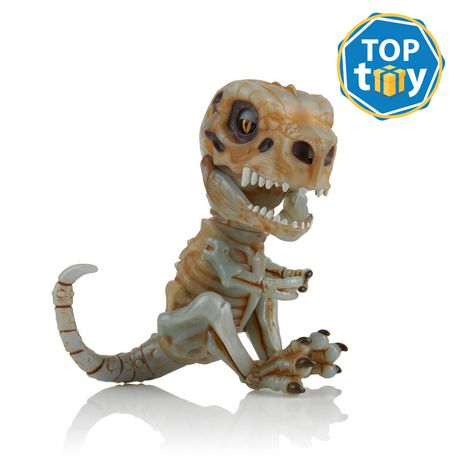 Fingerlings Untamed – Bonehead Skeleton Dino – Doom (Brown) – By WowWee - image 1 of 5
