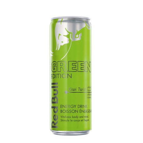Red Bull Energy Drink Kiwi, Green Edition - image 1 of 2