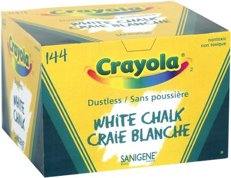 Crayola Dustless White Chalk, Pack of 144 Sticks - image 1 of 1