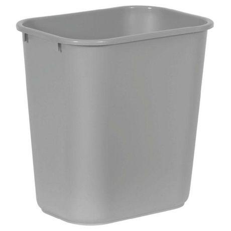Continental Gray Rectangular Waste Basket - image 1 of 1