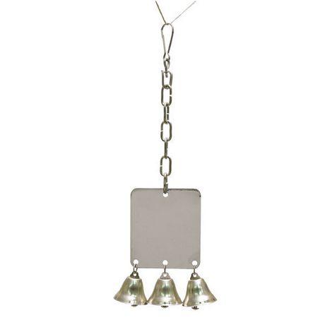 Jouet pour oiseau rosewood pet miroir moyen avec cloches for Miroir walmart