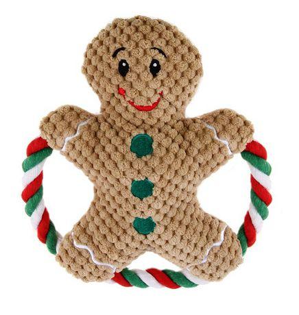 Walmart Plush Gingerbread Pet Toy with Rope $0.10 (Reg. $5.98)