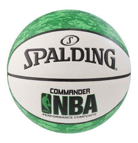 Ballon de basketball Spalding NBA Commander, Vert/Blanc, Taille 7/29,5 po - image 1 de 2