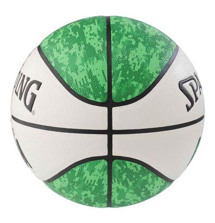 Ballon de basketball Spalding NBA Commander, Vert/Blanc, Taille 7/29,5 po - image 2 de 2