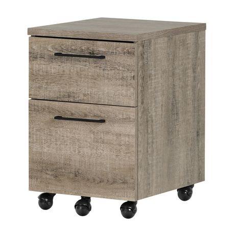 classeur mobile 2 tiroirs munich ch ne vieilli de meubles south shore. Black Bedroom Furniture Sets. Home Design Ideas