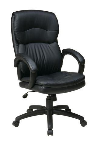 office star products office star high back eco leather executive