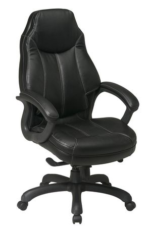 Office Star Oversized Executive Faux Leather Chair