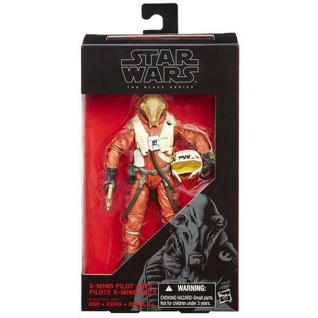 Star Wars Figurine « La série noire Pilote X-wing Asty », 15 cm (6 po) - image 2 de 2