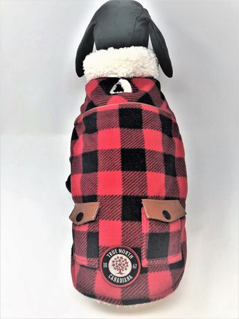 Canadiana dog easy fit buffalo plaid jacket by PMP - image 1 of 2