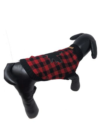 Canadiana buffalo plaid turtleneck sweater by PMP - image 1 of 2