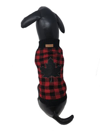 Canadiana buffalo plaid turtleneck sweater by PMP - image 2 of 2