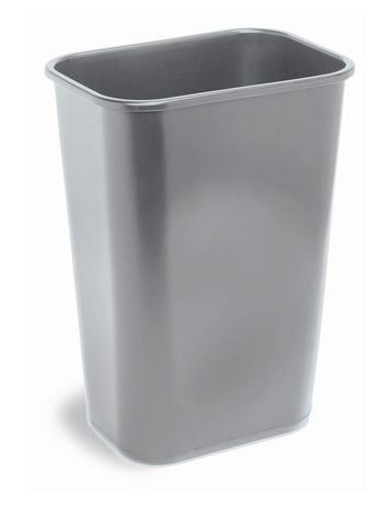 Continental Gray Rectangular Waste Basket - image 1 of 1