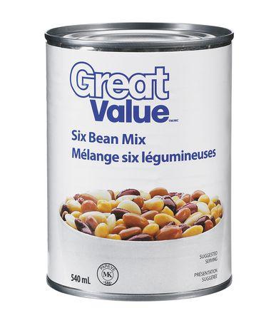 25c0fd7320da7e Great Value Six Bean Mix - image 1 of 2 ...