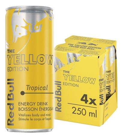 Red Bull Energy Drink Tropical Yellow Edition Walmart