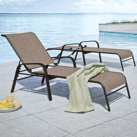 Corliving Brown Reclining Patio Lounge Chairs Walmart Canada