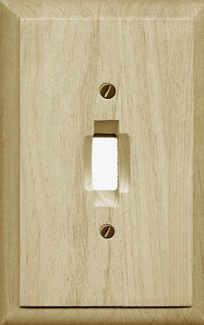 atron electro industries traditional unfinished wood toggle wall plate walmart canada
