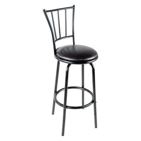 tabouret de bar pivotant en noir de hometrends walmart. Black Bedroom Furniture Sets. Home Design Ideas