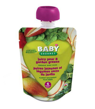 Baby Gourmet Foods Inc Poires juteuses et légumes verts du jardin Biologique - image 1 de 1