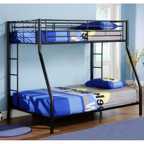 We Furniture Twin Over Double Bunk Bed Black Walmart Canada