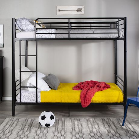 Lits simples superposés WE Furniture en noir - image 2 de 6