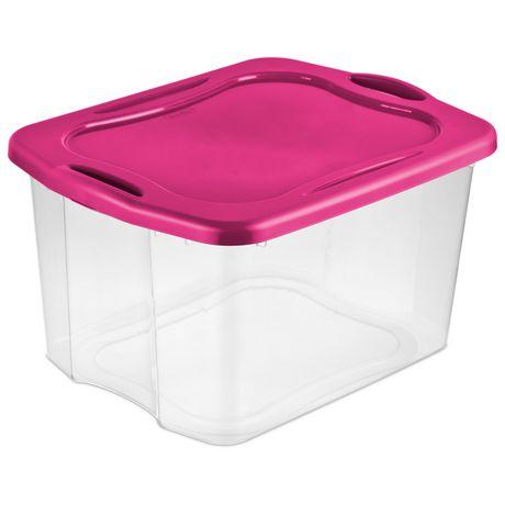 Sterilite Ez Carry Pink Storage Box Walmart Canada