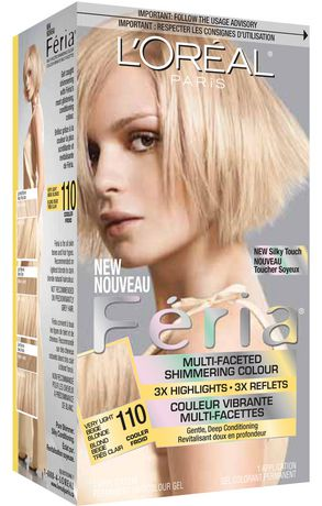 loreal feria 110 very light beige blond - Coloration Blond Clair Beige
