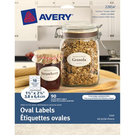 graphic about Oval Printable Labels called Avery ® Print-toward-the-Advantage Oval Labels