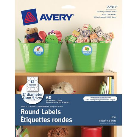22807 Template | Avery Print To The Edge Round Labels Walmart Canada