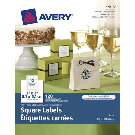 Avery print to the edge square labels walmart canada