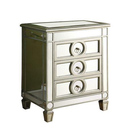 table d 39 appoint monarch specialties en miroir et argent bross walmart canada. Black Bedroom Furniture Sets. Home Design Ideas