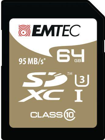Emtec CL10 U3 64 GB SD SpeedIN' Card - image 1 of 2