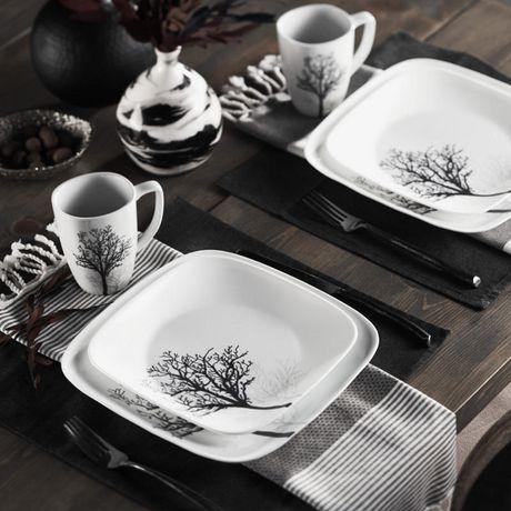 Corelle 174 Studio Timber Shadows Dinnerware Set 16pc