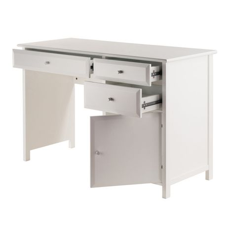 Winsome Delta Office White Writing Desk 10147 Walmart