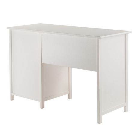 pupitre de bureau delta de winsome en blanc 10147. Black Bedroom Furniture Sets. Home Design Ideas