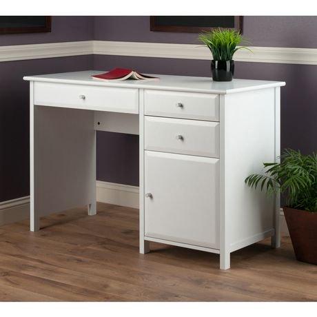 Winsome Delta Office White Writing Desk 10147 Walmart