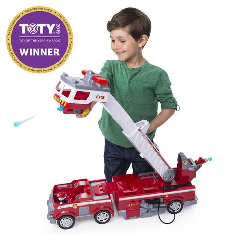 PAW Patrol - Ultimate Rescue Fire Truck with Extendable 2 Ft. Tall Ladder, for Ages 3 And up - image 1 of 9
